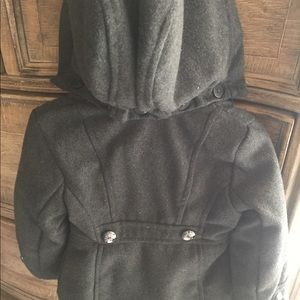 Girls charcoal grey coat